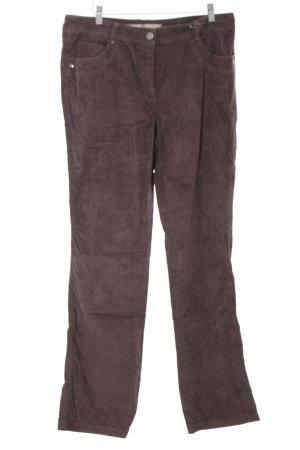 Cecil Pantalone di velluto a coste marrone scuro stile casual