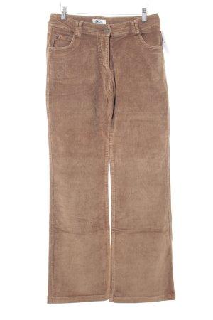 Cecil Pantalone di velluto a coste marrone chiaro stile casual