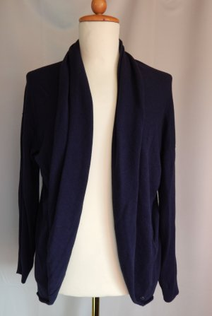 Cecil,Feinstrick Jacke,ponchoartiger Stil mit breitem Schalkragen, marineblau,Gr. XL