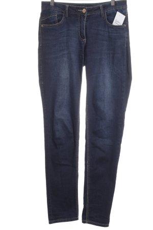 Cecil Five-Pocket-Hose dunkelblau schlichter Stil