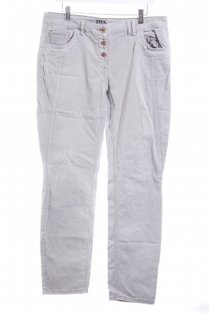 Cecil Five-Pocket-Hose hellgrau Casual-Look