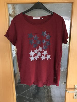 reasonable price new style discount shop Cecil T-Shirt grey-dark red