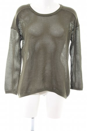 Cecil Coarse Knitted Sweater khaki casual look