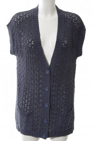 Cecil Crochet Cardigan blue cable stitch casual look