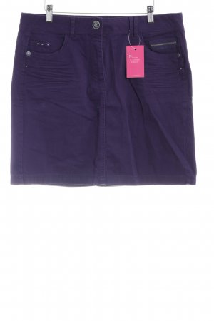Cecil High Waist Rock dunkelviolett Casual-Look