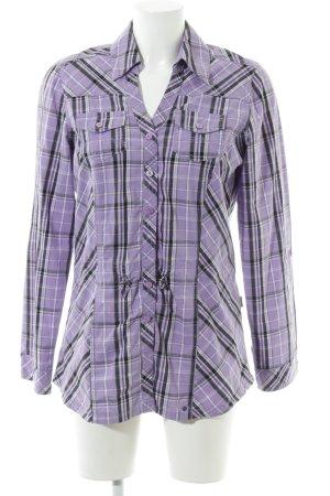 Cecil Lumberjack Shirt lilac-black check pattern casual look