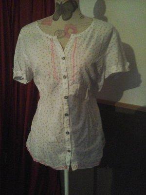 CECIL hübsche leichte Bluse Tunika neuwertig L weiss rosa
