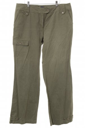 Cecil Low-Rise Trousers green grey casual look