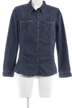 Cecil Jeansjacke blau Street-Fashion-Look