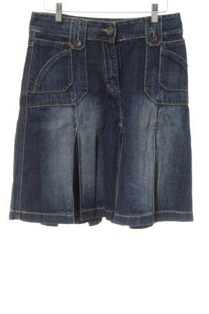 Cecil Jeansrock dunkelblau Jeans-Optik