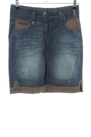 Cecil Gonna di jeans blu-marrone stile casual