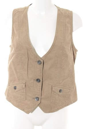 Cecil Denim Vest camel simple style