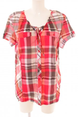 Cecil Short Sleeved Blouse check pattern casual look