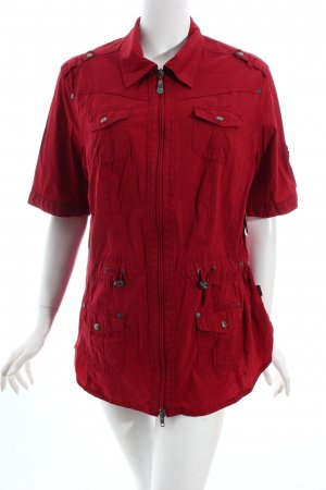 Cecil Kurzarm-Bluse dunkelrot Casual-Look