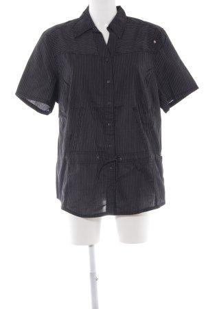 Cecil Camicia a maniche corte nero-grigio chiaro motivo a righe stile casual