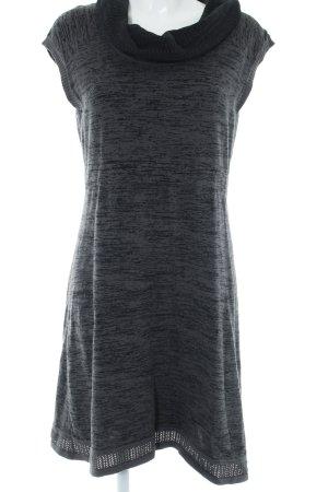 Cecil Kurzarmkleid dunkelgrau-grau Streifenmuster Casual-Look