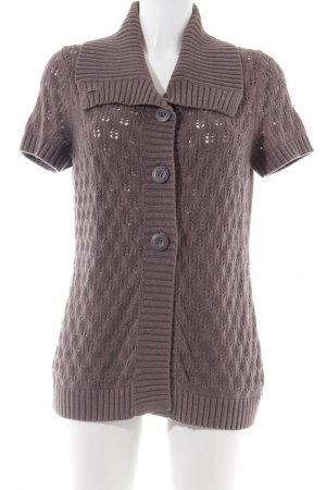 Cecil Short Sleeve Knitted Jacket brown cable stitch street-fashion look