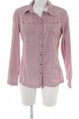 Cecil Langarmhemd pink Streifenmuster Business-Look