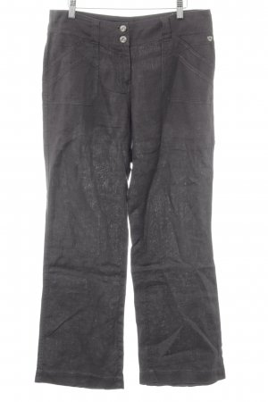 Cecil Linen Pants dark grey casual look