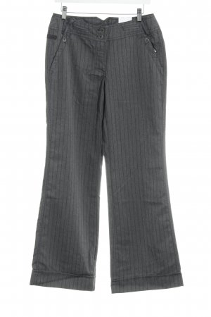 Cecil Marlene Trousers grey-dark grey herringbone pattern casual look