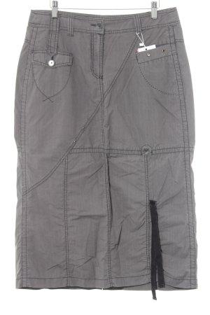 Cecil Midirock grau-schwarz Streifenmuster Casual-Look