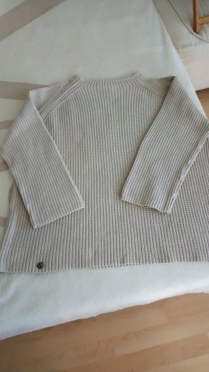 Cecil Coarse Knitted Sweater sand brown mixture fibre