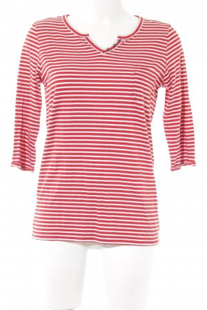 Cecil Stripe Shirt red-white striped pattern simple style