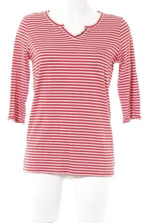 Cecil Camisa de rayas rojo-blanco estampado a rayas estilo sencillo