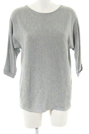 Cecil Crewneck Sweater light grey flecked casual look