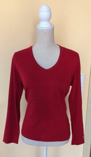 Cecil Shirt Langarmshirt rot Größe L