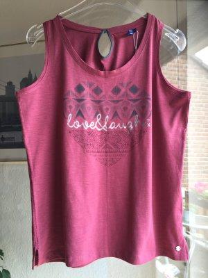 CECIL Shirt Top mit Herzprint Beere M 38 - 40 Neu m. Etikett
