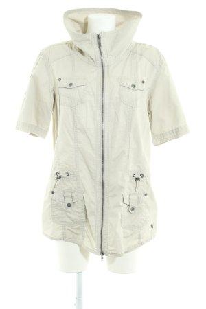 Cecil Chaqueta estilo camisa beige claro look casual