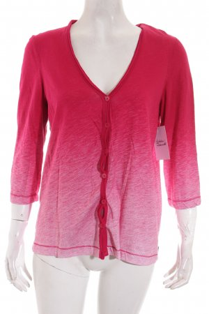 Cecil Shirt Jacket raspberry-red-white color gradient casual look