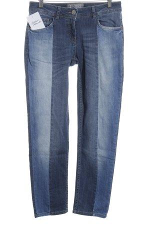 Cecil Skinny Jeans stahlblau-himmelblau Colourblocking Casual-Look
