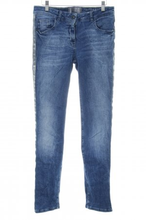 Cecil Slim jeans neon blauw casual uitstraling