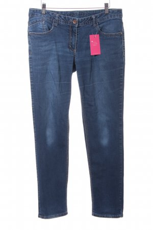Cecil Slim Jeans blau Casual-Look