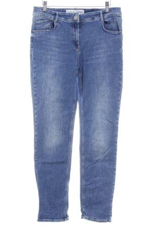 Cecil Slim Jeans stahlblau meliert Casual-Look