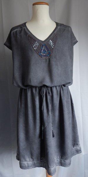 Cecil Tunic Dress dark grey mixture fibre