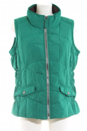 Cecil Quilted Gilet green quilting pattern casual look