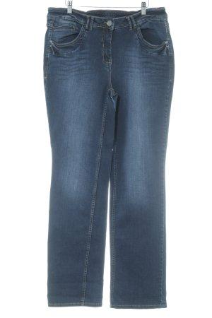 Cecil Jeans a gamba dritta blu scuro stile casual