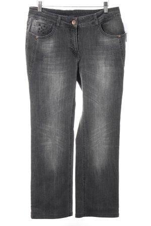 Cecil Straight-Leg Jeans dunkelgrau Casual-Look