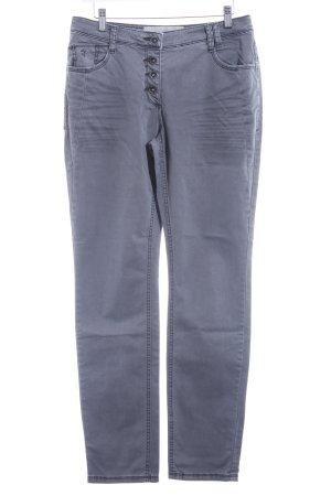 Cecil Straight-Leg Jeans grau-hellgrau Casual-Look
