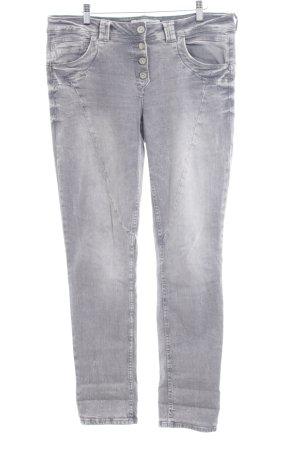 Cecil Straight-Leg Jeans grau schlichter Stil