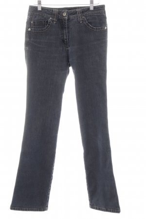 Cecil Straight Leg Jeans slate-gray simple style