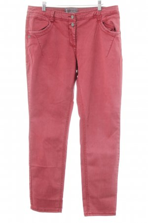 Cecil Straight Leg Jeans bright red simple style