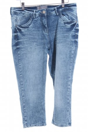 Cecil Stretch Jeans stahlblau-himmelblau Street-Fashion-Look