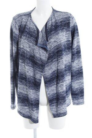 Cecil Strick Cardigan dunkelblau-weiß Farbverlauf Casual-Look