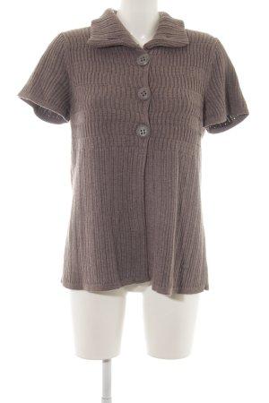 Cecil Giacca in maglia marrone-grigio stile casual