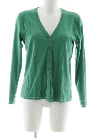 Cecil Strickjacke grün-hellgrün Streifenmuster schlichter Stil