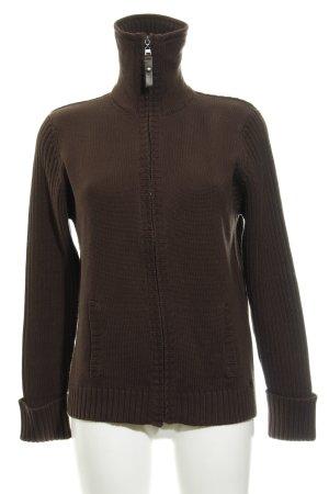 Cecil Giacca in maglia marrone-nero stile casual